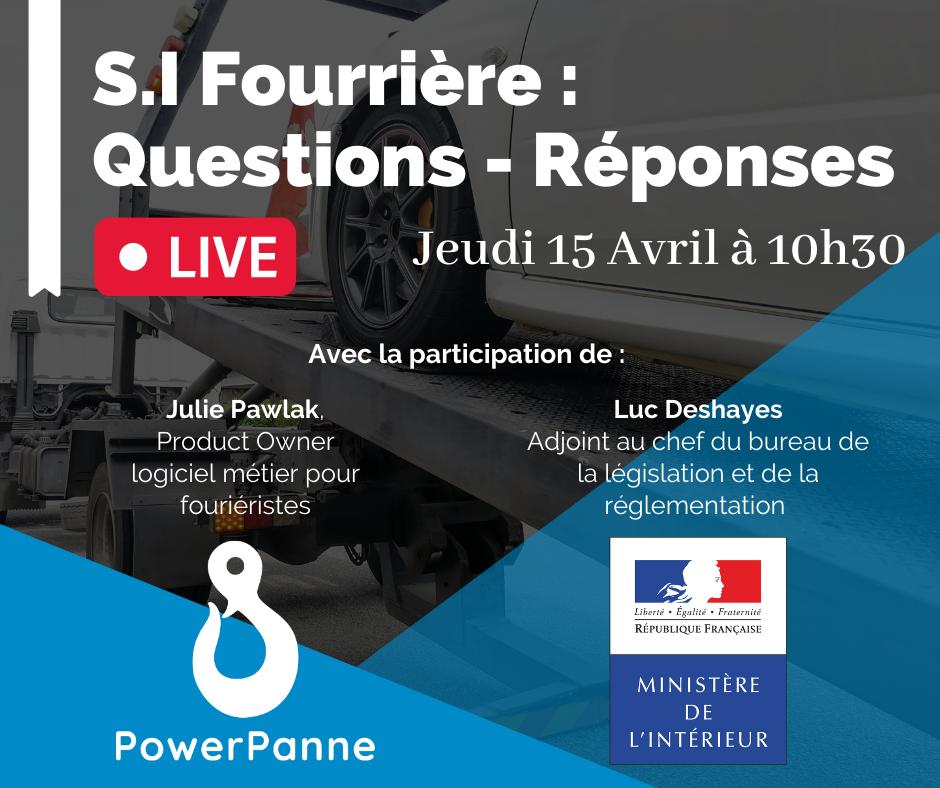news article blog actualités dépannage remorquage S.I Fourrière : Inscrivez-vous au LIVE Questions - Réponses